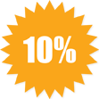 10 percent off selected items