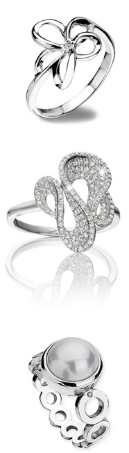 selected of rings at Les Harris Jewellers